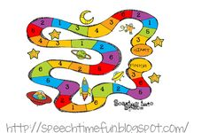Speech Time Fun: Soaring into Space! Articulation Game!  game to practice /k/, /th/, and /r/ in the intial, medial, and final position!