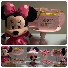 Mensário tema Minnie Rosa Personalizados produzidos por Mônica Guedes