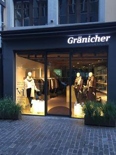 Lorena Antoniazzi Hight end Knitwear in Lucerne. Gränicher Urban Fashion Autumn/ Winter Window Shopping Shops, Urban Fashion, Retail Space, Fall Winter, Tents, Retail, Urban Street Fashion, Retail Stores