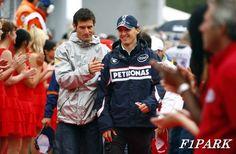 Mark Webber & Robert Kubica - F1PARK Mark Webber, Red Bull Racing, Vroom Vroom, Motorcycle Jacket, Sports, Jackets, Fashion, Hs Sports, Down Jackets