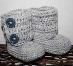 Baby Booties - Baby Ankle Boots (Crocheted-Novice)