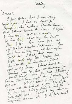 Virginia Woolf's letter to her husband