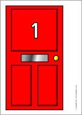 Numbers 1-50 on house doors (SB5615) - SparkleBox