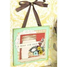 Kiss the Cook Wall Hanging by Kerri Winterstein