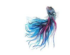 Cute fish tattoo idea.  Vibrant colors