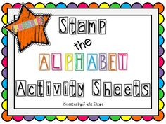 {FREEBIE} Alphabet Stamping Activity Sheets
