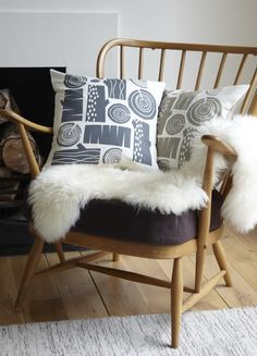 Roddy & Ginger designs + lovely Ercol chair
