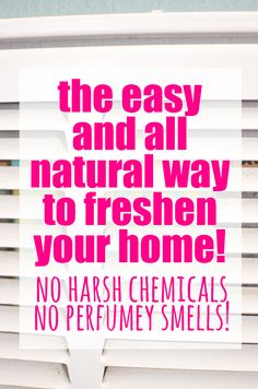 The Easy and All Natural Way to Freshen your Whole House!  No harsh chemicals or perfumey smells... just a hint of peppermint and lavender tucked away in this little secret spot!