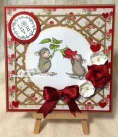 House Mouse stamp from Stampendous x