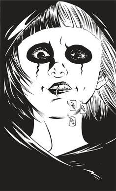 Deathko, l'héroïne de Deathco (Dessin Atsushi Kaneko.Casterman)