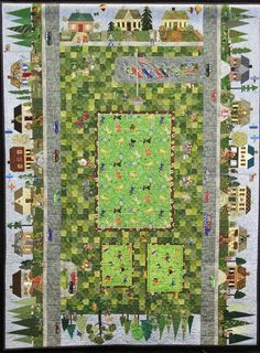 """Saturdays in the Neighborhood"" by Patricia Dever et al., NQA 2013 Quilt Show"