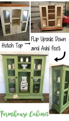 Here are 20 of the BEST old Furniture Makeover Ideas you have to see for yourself Diy Furniture Redo, Green Furniture, Diy Furniture Projects, Refurbished Furniture, Repurposed Furniture, Rustic Furniture, Home Furniture, Antique Furniture, Furniture Stores