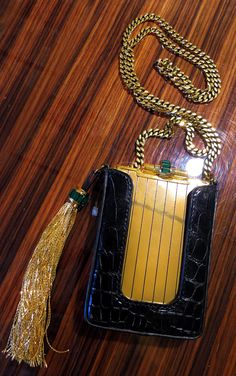 #BGSale : Gucci archival 20's deco evening bag with chain and tassel, 212 872 2836