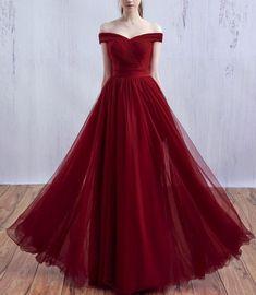 Wine Red Long Prom Dress 2018, Off Shoulder Prom Dress,#promdress,#promdresses,#burgundypromdress