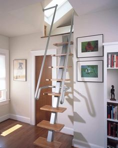 spiral staircase kits for small spaces - To Create Staircase Design For Small Spaces Stairs For Tight Spaces, Small Space Staircase, Narrow Staircase, Spiral Staircase, Staircase Ideas, Loft Stairs, House Stairs, Basement Stairs, Stairway Wall Art