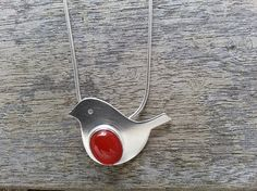 Sterling Silver 'Robin' Pendant with Oval by SilverbirdDesignsUK, £35.00