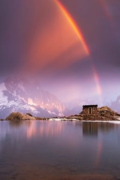 """""""Unexpected Lightshow"""" by Tobias Ryser. Location: Lac Blanc, a lake in Chamonix-Mont-Blanc, Haute-Savoie, France. Beautiful Sky, Beautiful Landscapes, Beautiful World, Beautiful Places, Cool Pictures, Cool Photos, Beautiful Pictures, Natural Phenomena, Belleza Natural"""