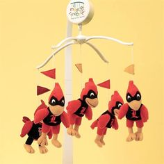 Louisville Cardinals Baby Mobile! Haha...