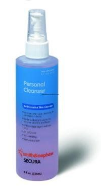 Secura Cleanser Spray - 8 oz A low-cost, high-quality cleanser that provides soothing care to sensitive skin. No-rinse formula. Antimicrobial skin cleanser, for perineum and body, aids in removal of urine and feces or other foreign material. Skin Care Regimen, Skin Care Tips, Facial Cleanser, Moisturizer, Best Eyeliner, Facial Skin Care, Best Face Products, Body Wash, Spray Bottle