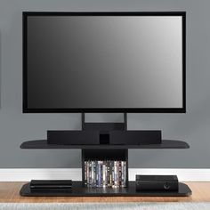 Altra Galaxy 65 inch Black TV Stand with Mount | Overstock.com Shopping - The Best Deals on Entertainment Centers