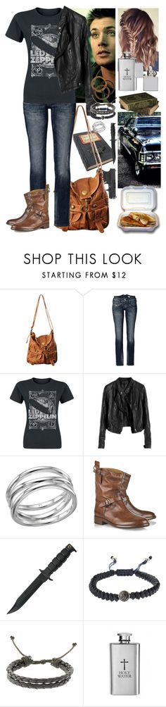 """""""Supernatural Dean Winchester's Girl"""" by werewolf-gurl ❤ liked on Polyvore featuring Forever 21, Herrlicher, Links of London, Belstaff, Diesel and Zippo"""