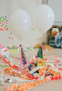 neon kids birthday party