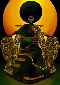 Black Love Art, Black Girl Art, Black Is Beautiful, Black Girl Magic, Art Girl, Black Art Painting, Black Artwork, Afro Painting, African Art Paintings