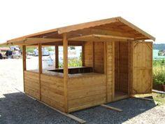 Kiosco de madera l m arquitectos pinterest paredes for Disenos de kioscos de madera