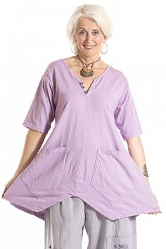 Seed Pocket Tunic UnPrinted-Blue Fish Clothing