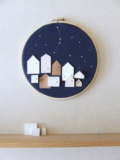 In Little Houses zodiac star map