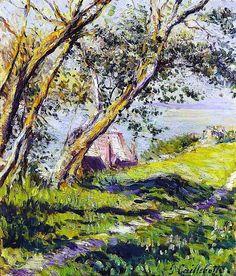 Gustave CAILLEBOTTE «Maisons au bord de l'eau»