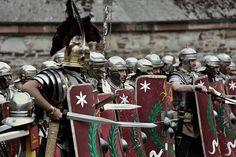 Legio XXI Rapax - historical reenactment of Roman legion. Rekonstrukcja historyczna rzymskich legionów.