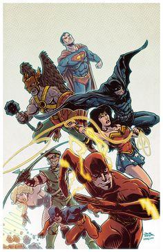 #Justice #League #Fan #Art. (JLA Color) By: Johnraygun. [THANK U 4 PINNING!!]