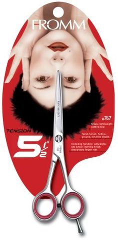 """Fromm Edge Ahead  Tension Shear, 5 1/2"""" by Edge-Ahead. $62.18. Opposing handles, adjustable set screw, and detachable finger rest for comfortable grip. Hand-honed, hollow-ground, beveled blades. 5 1/2"""" Shear. Made in Germany. Sleek, lightweight cutting tool. Amazon.com                Starting with sterling-coated, hand-honed blades, the Fromm Edge-Ahead 767 5-1/2-Inch Tension Shear has an advanced German design for delivering professional salon results. The opposing handles fe..."""