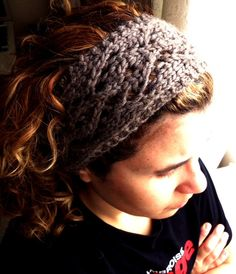 Moura Headband using bulky yarn makes for a quick project! - Could also make with finer yarn and adjust length.