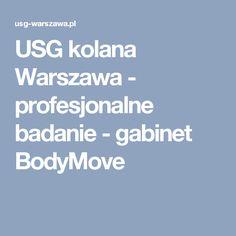 USG kolana Warszawa - profesjonalne badanie - gabinet BodyMove