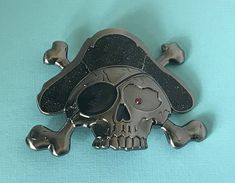 New Belt Buckle Skull with Flying Wings NWOT