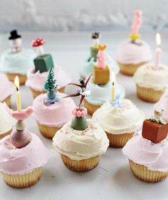 Retro cupcakes from Back in the Day Bakery cookbook via Design* Sponge.