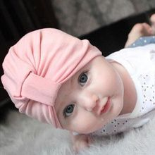 Cute Newborn Toddler Kids Baby Boy Girl Turban Star Indian Knot Hat Cotton Beanie Cap