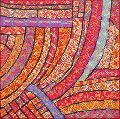 Adrianna Nangala Egan / Yarla Jukurrpa (Bush Potato Dreaming) – Cockatoo Creek 76 x 76cm