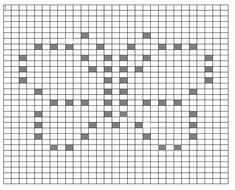 Crochet Bobble Blanket, Bobble Stitch Crochet, Graph Crochet, Crochet Quilt, Crochet Cross, Crochet Diagram, Crochet Stitches Patterns, Crochet Squares, Filet Crochet
