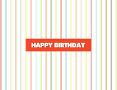 Pinstripe Birthday by Kelp Designs on Postable.com