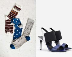 Socks + Tevas might be a no-go, but you can totally dress up the fashion faux pas with fun socks + high heel sandals.