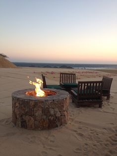 Enjoy the simple delights of a firepit on the beach at Grand Solmar Land's End Resort & Spa.