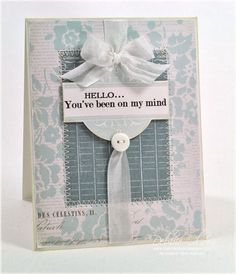 On My Mind Card by Debbie Olson for Papertrey Ink (October 2013)