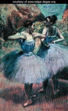 Dancers in Violet    Edgar Degas