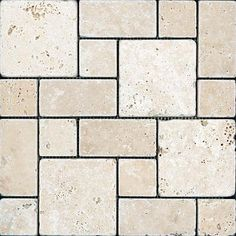 Maggie has a stack of these Chiaro Tuscan Patterned Tumbled Mosaics. They would make a great countertop!!
