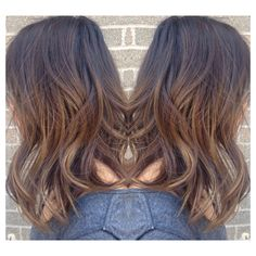 Ombré, ombre, sombre, baylage, brunettes, highlights, colourist, hairstyle, medium length hair, lob, long bob