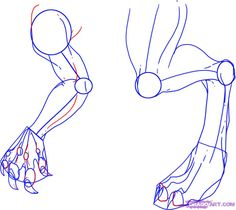 drawing dragon limbs