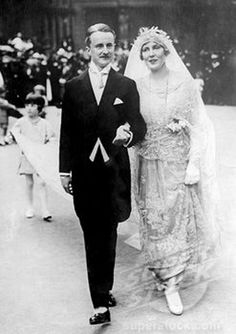 Duff Cooper at his wedding to Lady Diana Manners in 1919